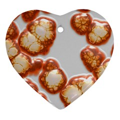 Abstract Texture A Completely Seamless Tile Able Background Design Heart Ornament (two Sides) by Nexatart