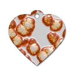 Abstract Texture A Completely Seamless Tile Able Background Design Dog Tag Heart (Two Sides)
