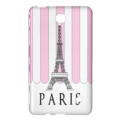 Pink Paris Eiffel Tower Stripes France Samsung Galaxy Tab 4 (8 ) Hardshell Case  by Mariart