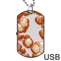 Abstract Texture A Completely Seamless Tile Able Background Design Dog Tag Usb Flash (two Sides) by Nexatart