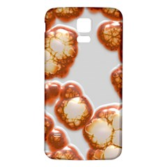 Abstract Texture A Completely Seamless Tile Able Background Design Samsung Galaxy S5 Back Case (white) by Nexatart