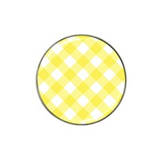 Plaid Chevron Yellow White Wave Hat Clip Ball Marker (4 Pack) by Mariart