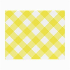 Plaid Chevron Yellow White Wave Small Glasses Cloth by Mariart