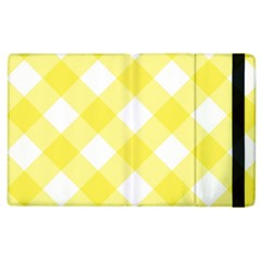 Plaid Chevron Yellow White Wave Apple Ipad 3/4 Flip Case by Mariart