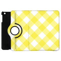Plaid Chevron Yellow White Wave Apple Ipad Mini Flip 360 Case by Mariart