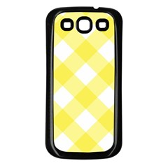 Plaid Chevron Yellow White Wave Samsung Galaxy S3 Back Case (black) by Mariart