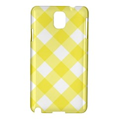 Plaid Chevron Yellow White Wave Samsung Galaxy Note 3 N9005 Hardshell Case by Mariart