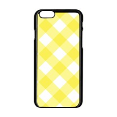 Plaid Chevron Yellow White Wave Apple Iphone 6/6s Black Enamel Case by Mariart