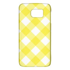 Plaid Chevron Yellow White Wave Galaxy S6 by Mariart