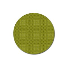 Royal Green Vintage Seamless Flower Floral Magnet 3  (Round) by Mariart
