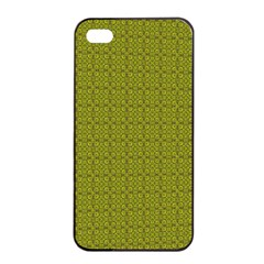 Royal Green Vintage Seamless Flower Floral Apple Iphone 4/4s Seamless Case (black) by Mariart