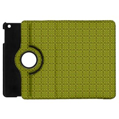 Royal Green Vintage Seamless Flower Floral Apple Ipad Mini Flip 360 Case by Mariart