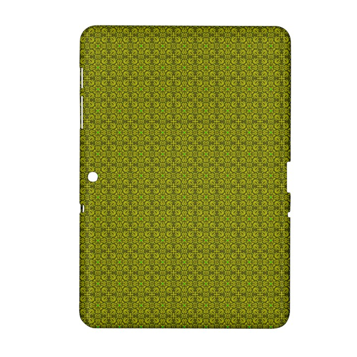 Royal Green Vintage Seamless Flower Floral Samsung Galaxy Tab 2 (10.1 ) P5100 Hardshell Case