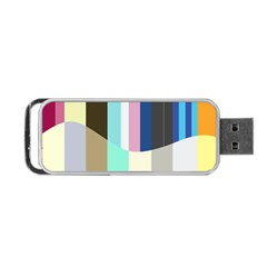 Rainbow Color Line Vertical Rose Bubble Note Carrot Portable Usb Flash (one Side) by Mariart