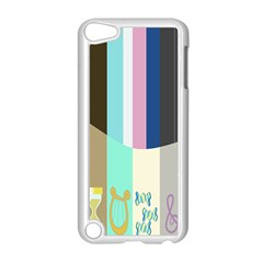 Rainbow Color Line Vertical Rose Bubble Note Carrot Apple Ipod Touch 5 Case (white) by Mariart