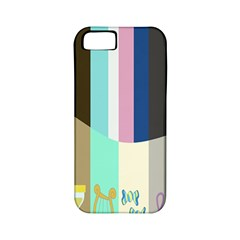 Rainbow Color Line Vertical Rose Bubble Note Carrot Apple Iphone 5 Classic Hardshell Case (pc+silicone) by Mariart