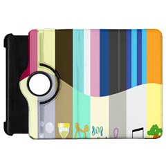 Rainbow Color Line Vertical Rose Bubble Note Carrot Kindle Fire Hd 7  by Mariart