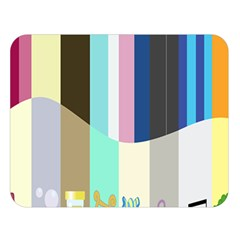 Rainbow Color Line Vertical Rose Bubble Note Carrot Double Sided Flano Blanket (large)  by Mariart