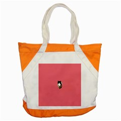 Minimalism Cat Pink Animals Accent Tote Bag