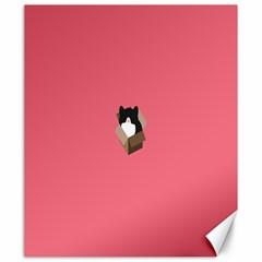 Minimalism Cat Pink Animals Canvas 20  X 24