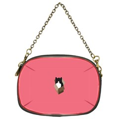 Minimalism Cat Pink Animals Chain Purses (one Side)  by Mariart