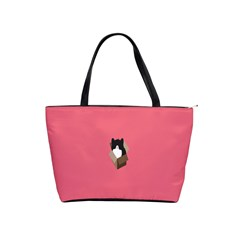 Minimalism Cat Pink Animals Shoulder Handbags by Mariart