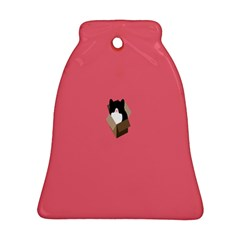 Minimalism Cat Pink Animals Bell Ornament (two Sides) by Mariart