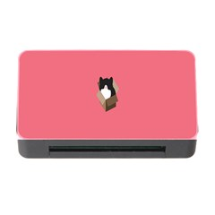 Minimalism Cat Pink Animals Memory Card Reader With Cf by Mariart