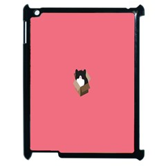 Minimalism Cat Pink Animals Apple Ipad 2 Case (black) by Mariart