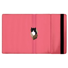 Minimalism Cat Pink Animals Apple Ipad 3/4 Flip Case by Mariart