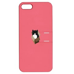 Minimalism Cat Pink Animals Apple Iphone 5 Hardshell Case With Stand by Mariart