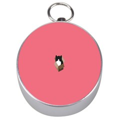 Minimalism Cat Pink Animals Silver Compasses