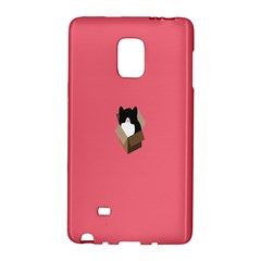 Minimalism Cat Pink Animals Galaxy Note Edge by Mariart