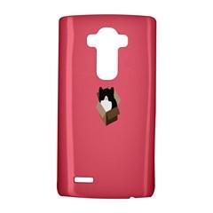 Minimalism Cat Pink Animals Lg G4 Hardshell Case by Mariart