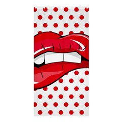 Sexy Lips Red Polka Dot Shower Curtain 36  X 72  (stall)  by Mariart