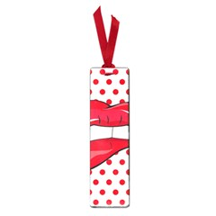 Sexy Lips Red Polka Dot Small Book Marks by Mariart