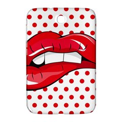 Sexy Lips Red Polka Dot Samsung Galaxy Note 8 0 N5100 Hardshell Case  by Mariart