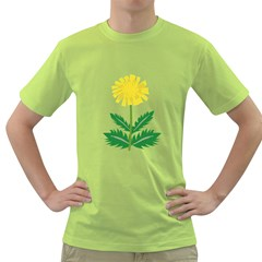 Sunflower Floral Flower Yellow Green Green T Shirt