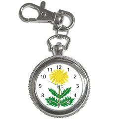 Sunflower Floral Flower Yellow Green Key Chain Watches by Mariart