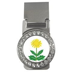 Sunflower Floral Flower Yellow Green Money Clips (cz)