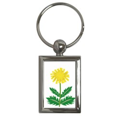 Sunflower Floral Flower Yellow Green Key Chains (rectangle)