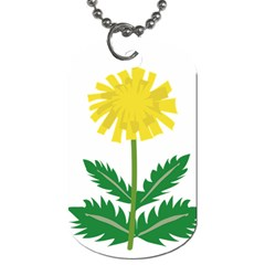 Sunflower Floral Flower Yellow Green Dog Tag (one Side)