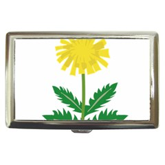 Sunflower Floral Flower Yellow Green Cigarette Money Cases