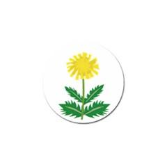 Sunflower Floral Flower Yellow Green Golf Ball Marker