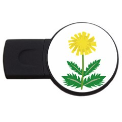Sunflower Floral Flower Yellow Green Usb Flash Drive Round (2 Gb)