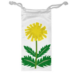 Sunflower Floral Flower Yellow Green Jewelry Bag