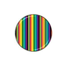 Multi Colored Colorful Bright Stripes Wallpaper Pattern Background Hat Clip Ball Marker (4 pack) by Nexatart