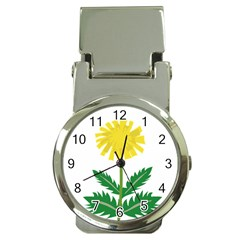 Sunflower Floral Flower Yellow Green Money Clip Watches by Mariart
