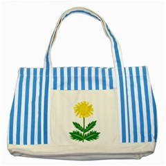 Sunflower Floral Flower Yellow Green Striped Blue Tote Bag