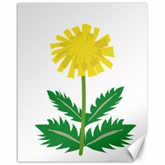 Sunflower Floral Flower Yellow Green Canvas 16  X 20